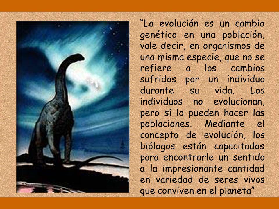 BIOLOGÍA I TEMA 3: EVOLUCIÓN, DIVERSIDAD Y ADAPTACIÓN UNIDAD 2 EVOLUCIÓN: EL CAMBIO DE LOS SERES VIVOS EN EL TIEMPO