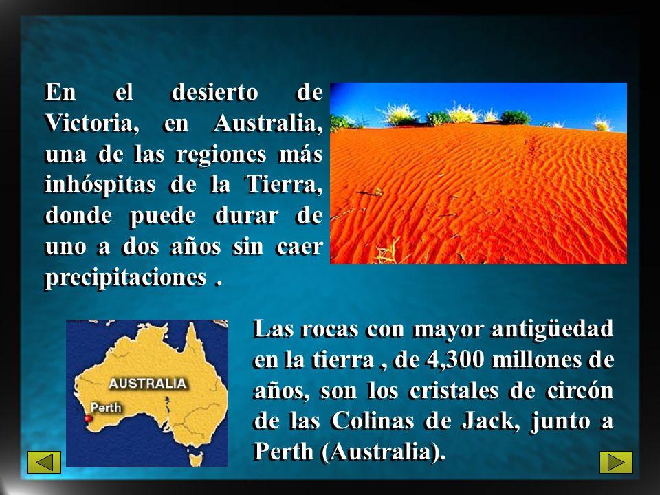 En el desierto de Victoria, en Australia, una de las regiones más inhóspitas de la Tierra, donde puede durar de uno a dos años sin caer precipitacione