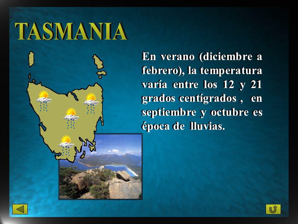 En verano (diciembre a febrero), la temperatura varía entre los 12 y 21 grados centígrados, en septiembre y octubre es época de lluvias.