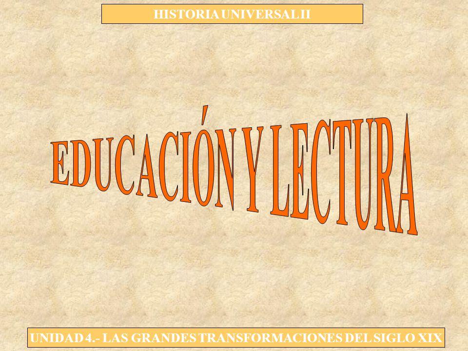 UNIDAD 4.- LAS GRANDES TRANSFORMACIONES DEL SIGLO XIX HISTORIA UNIVERSAL II