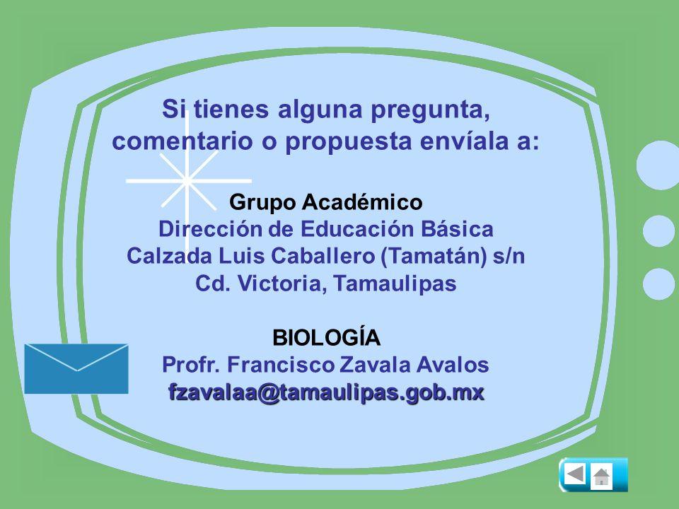 Si tienes alguna pregunta, comentario o propuesta envíala a: Grupo Académico Dirección de Educación Básica Calzada Luis Caballero (Tamatán) s/n Cd. Vi