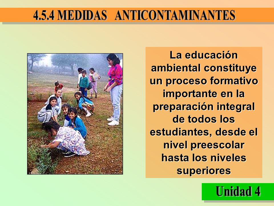 La educación ambiental constituye un proceso formativo importante en la preparación integral de todos los estudiantes, desde el nivel preescolar hasta