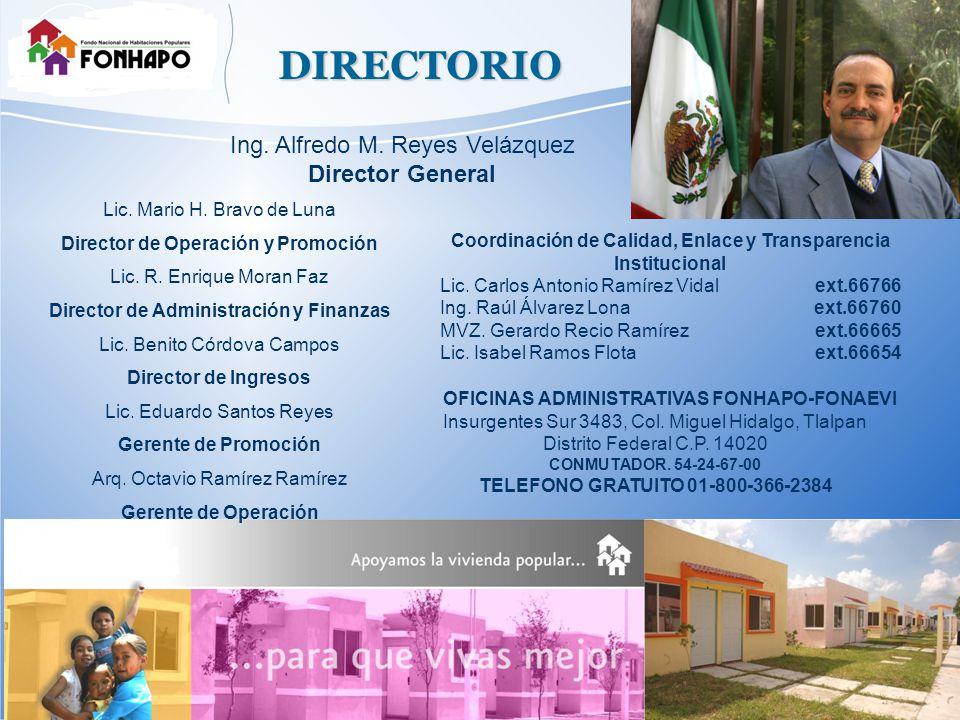 DIRECTORIO Lic. Mario H. Bravo de Luna Director de Operación y Promoción Lic.