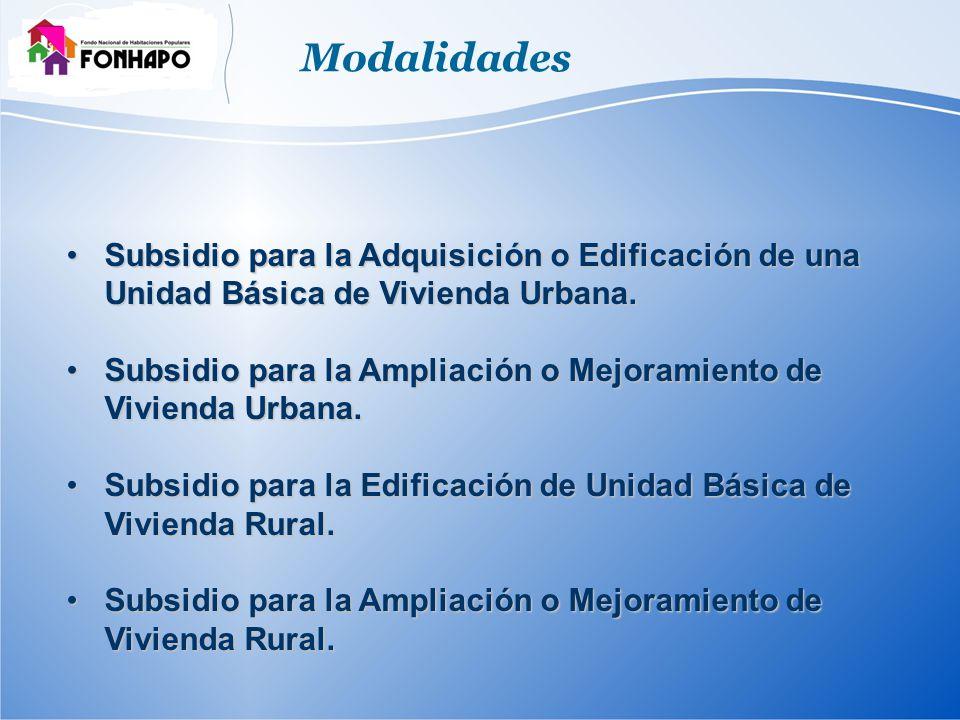 Subsidio para la Adquisición o Edificación de una Unidad Básica de Vivienda Urbana.Subsidio para la Adquisición o Edificación de una Unidad Básica de Vivienda Urbana.