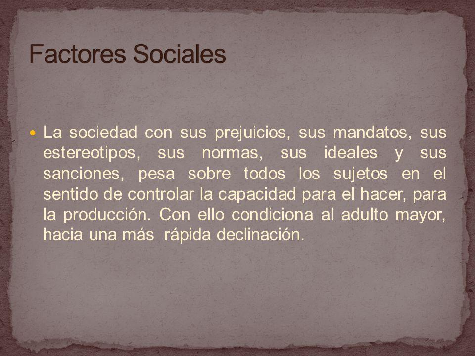 La sociedad con sus prejuicios, sus mandatos, sus estereotipos, sus normas, sus ideales y sus sanciones, pesa sobre todos los sujetos en el sentido de controlar la capacidad para el hacer, para la producción.