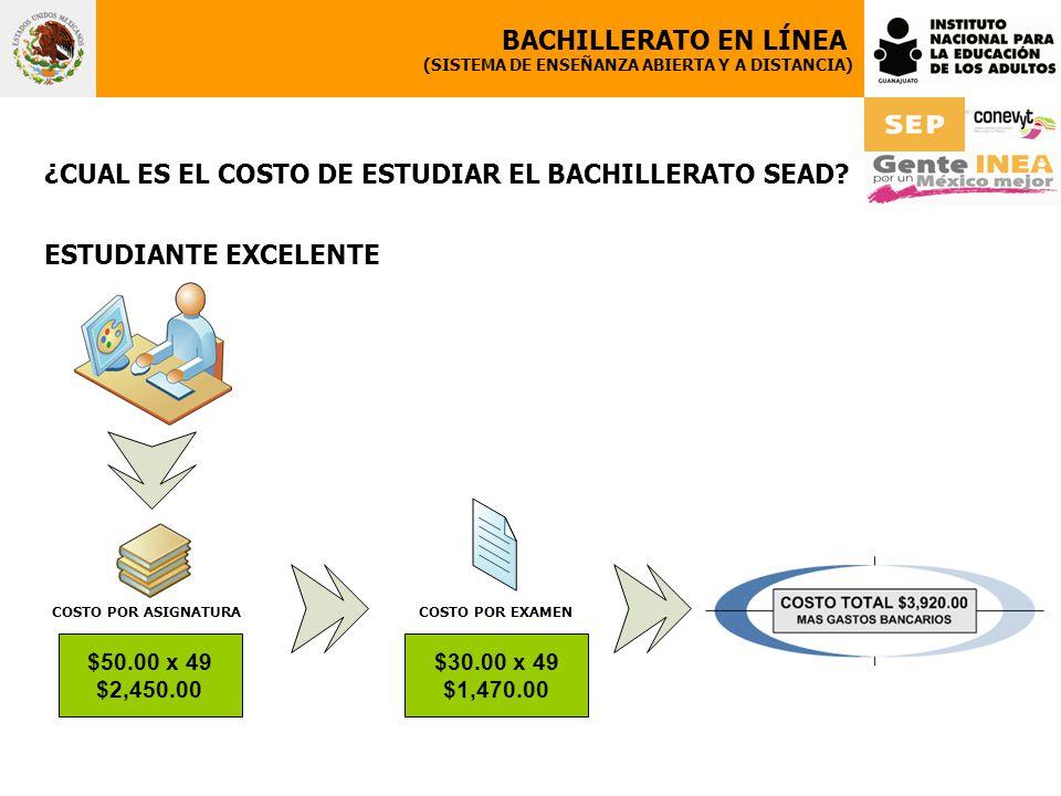 ¿CUAL ES EL COSTO DE ESTUDIAR EL BACHILLERATO SEAD.