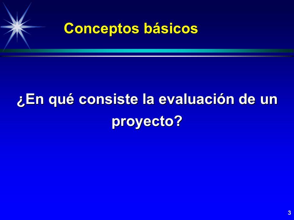 4 ¿En qué consiste la evaluación de un proyecto.