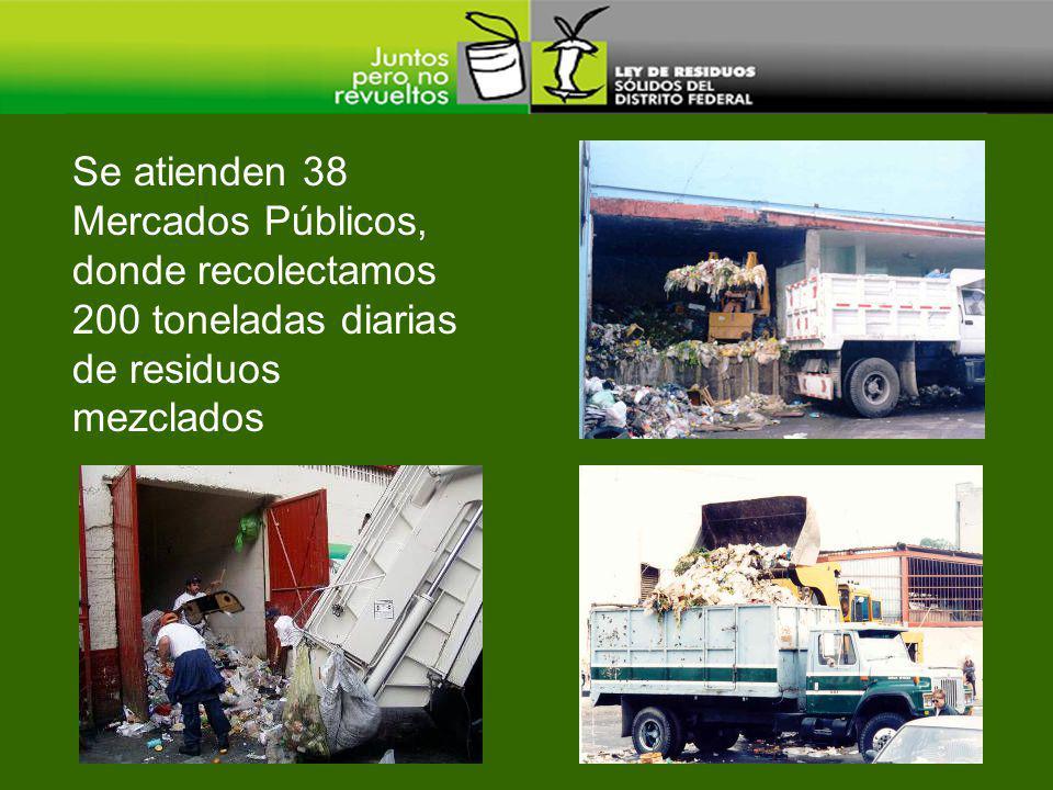 Se atienden 38 Mercados Públicos, donde recolectamos 200 toneladas diarias de residuos mezclados