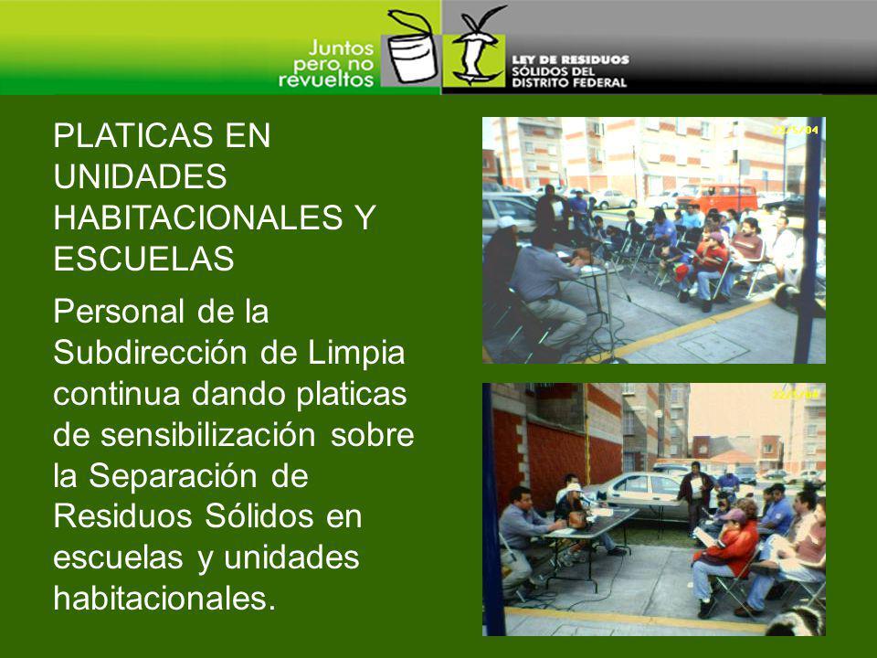Personal de la Subdirección de Limpia continua dando platicas de sensibilización sobre la Separación de Residuos Sólidos en escuelas y unidades habita