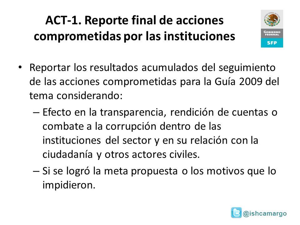 @ishcamargo ACT-1. Reporte final de acciones comprometidas por las instituciones Reportar los resultados acumulados del seguimiento de las acciones co