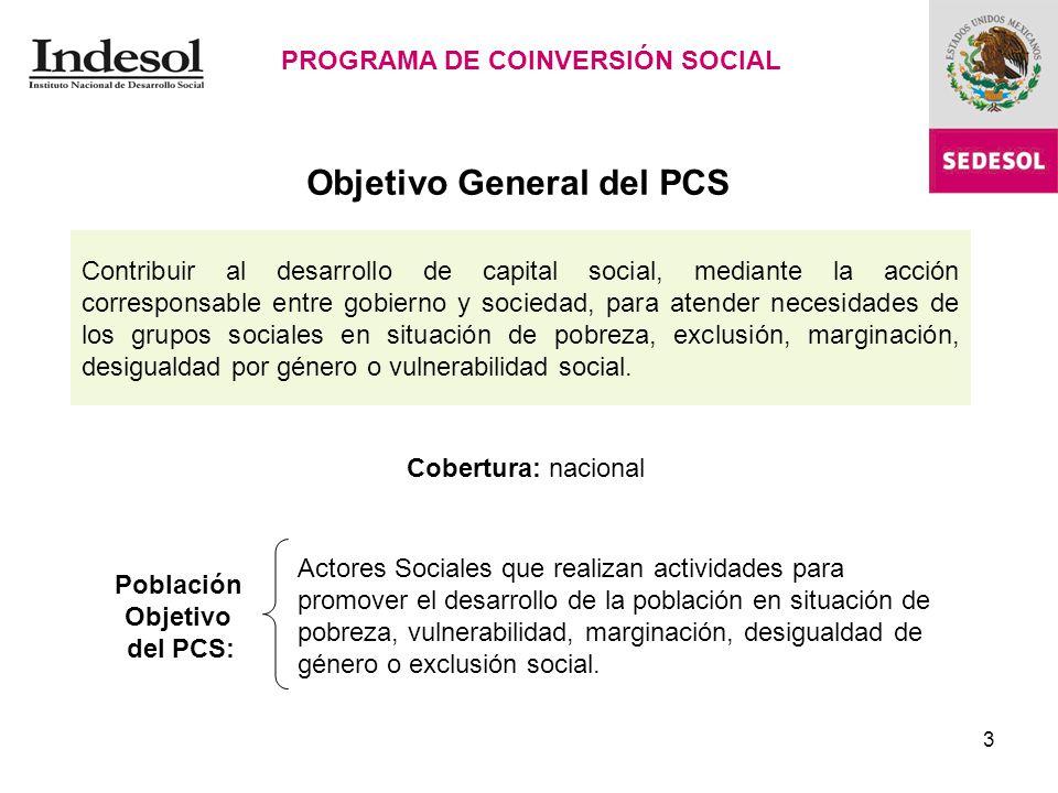 3 Contribuir al desarrollo de capital social, mediante la acción corresponsable entre gobierno y sociedad, para atender necesidades de los grupos sociales en situación de pobreza, exclusión, marginación, desigualdad por género o vulnerabilidad social.