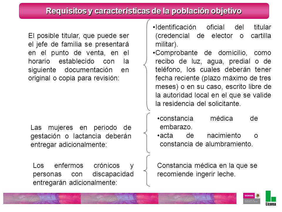 Las mujeres en periodo de gestación o lactancia deberán entregar adicionalmente: constancia médica de embarazo. acta de nacimiento o constancia de alu