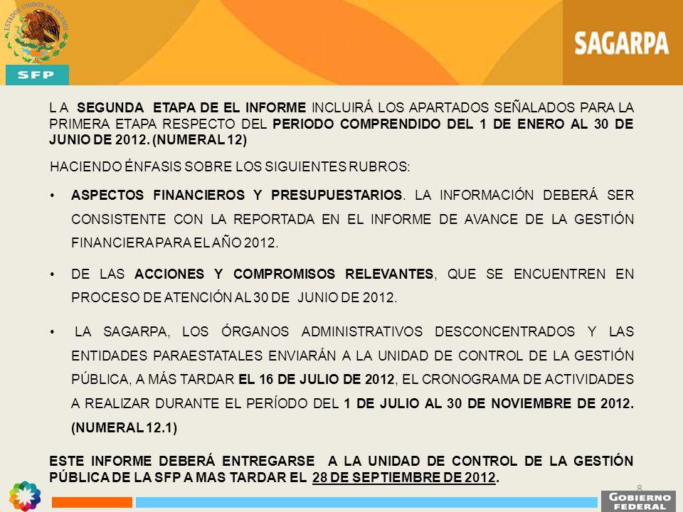 LIBROS BLANCOS ÁREA RESPONSABLELIBROS BLANCOS AGENCIA DE SERVICIOS A LA COMERCIALIZACIÓN Y DESARROLLO DE MERCADOS AGROPECUARIOS (ASERCA) AGRICULTURA POR CONTRATO COBERTURA A DESASTRES NATURALES EN EL SECTOR AGROPECUARIO Y PESQUERO COORDINACIÓN GENERAL DE GANADERÍAPROGAN SUBSECRETARÍA DE DESARROLLO RURAL ATENCIÓN A DESASTRES NATURALES EN EL SECTOR AGROPECUARIO Y PESQUERO SUBSECRETARÍA DE AGRICULTURAPROCAMPO SERVICIO DE INFORMACIÓN Y ESTADÍSTICA AGOALIMENTARIA Y PESQUERA (SIAP) ESTACIÓN DE RECEPCIÓN MÉXICO DE LA CONSTELACIÓN SPOT (ERMEX) NUEVA GENERACIÓN 19