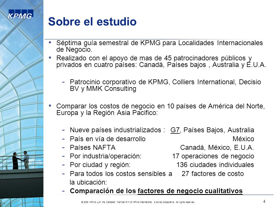 © 2008 KPMG LLP, the Canadian member firm of KPMG International, a Swiss cooperative.