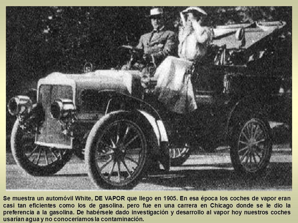 Ya en 1904 eran comunes en las calles de la ciudad. Aqui pueden ver el primer Oldsmobile que llego a México;