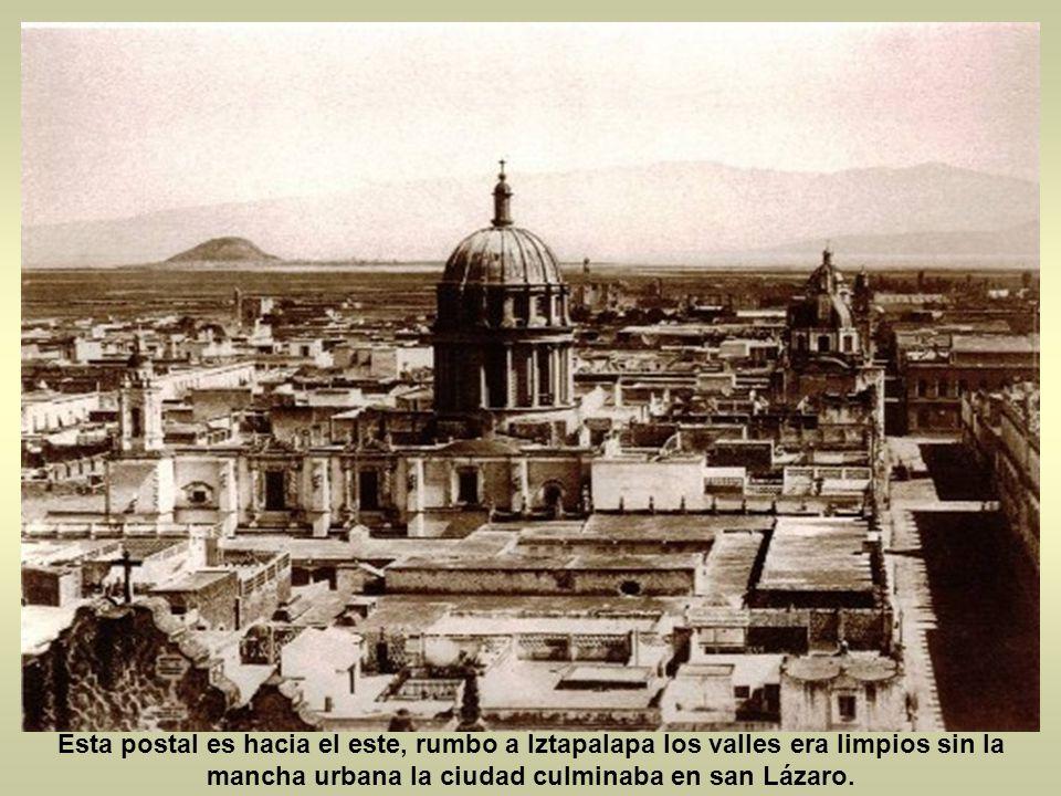 la ciudad de México no llegaba mas allá de Tlatelolco, mas allá de san Lázaro y mas allá de la ciudadela antes la ciudad no era tan grande y tan pobla