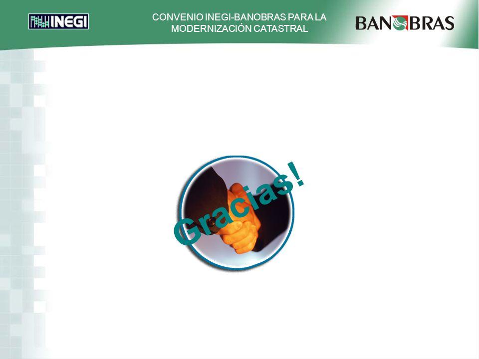 CONVENIO INEGI-BANOBRAS PARA LA MODERNIZACIÓN CATASTRAL Gracias!