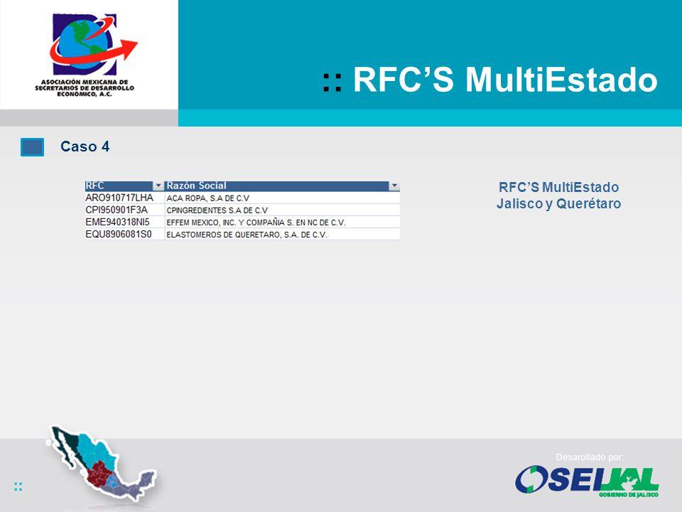 :: RFCS MultiEstado Caso 4 RFCS MultiEstado Jalisco y Querétaro