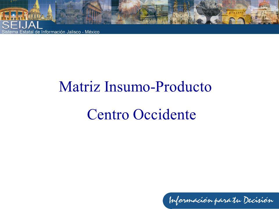 Matriz Insumo-Producto Centro Occidente