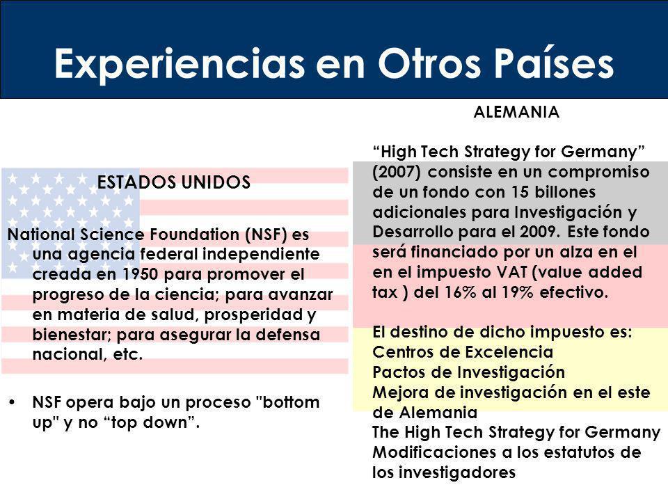 ESTADOS UNIDOS National Science Foundation (NSF) es una agencia federal independiente creada en 1950 para promover el progreso de la ciencia; para ava