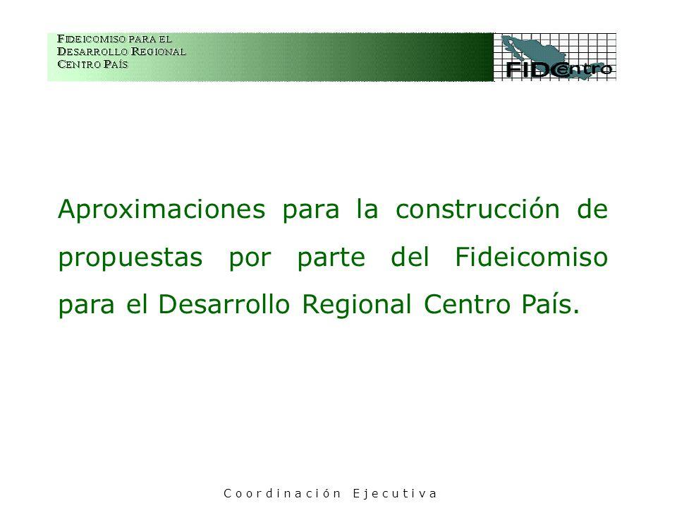 Aproximaciones para la construcción de propuestas por parte del Fideicomiso para el Desarrollo Regional Centro País.
