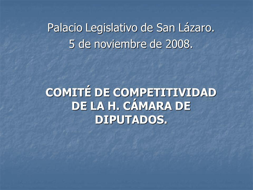 Palacio Legislativo de San Lázaro. 5 de noviembre de 2008.