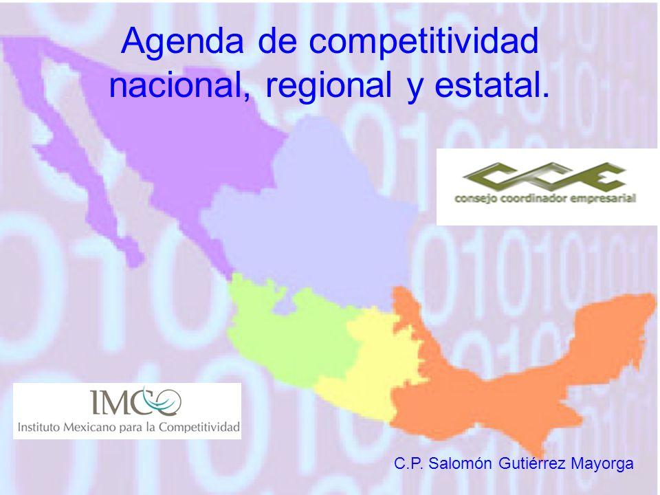 Agenda de competitividad nacional, regional y estatal. C.P. Salomón Gutiérrez Mayorga