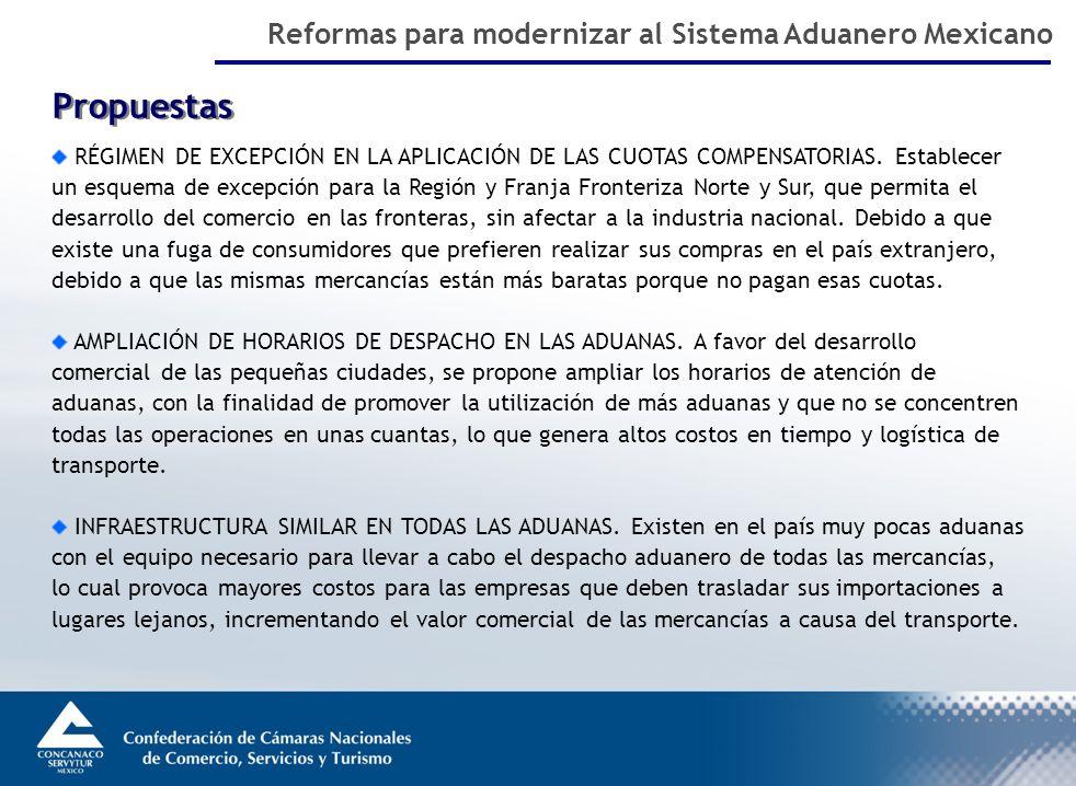 Propuestas RÉGIMEN DE EXCEPCIÓN EN LA APLICACIÓN DE LAS CUOTAS COMPENSATORIAS.