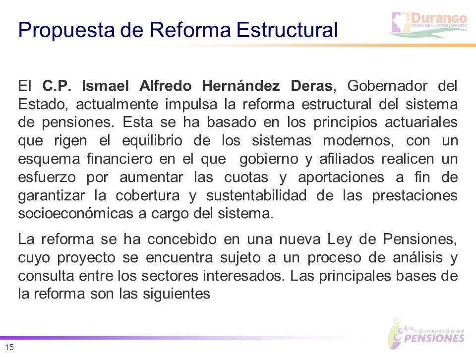 15 Propuesta de Reforma Estructural El C.P.