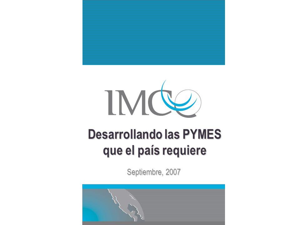 Desarrollando las PYMES que el país requiere Septiembre, 2007