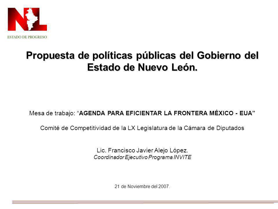 Propuesta de políticas públicas del Gobierno del Estado de Nuevo León.