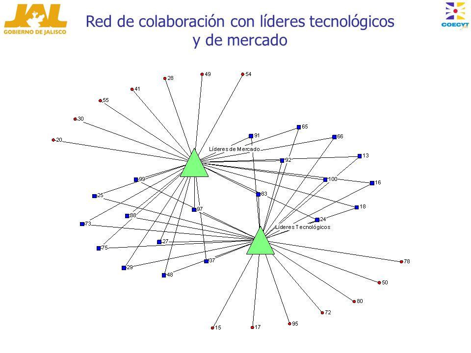 Red de colaboración con líderes tecnológicos y de mercado