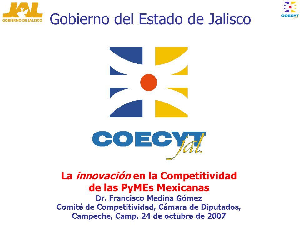 Gobierno del Estado de Jalisco La innovación en la Competitividad de las PyMEs Mexicanas Dr.