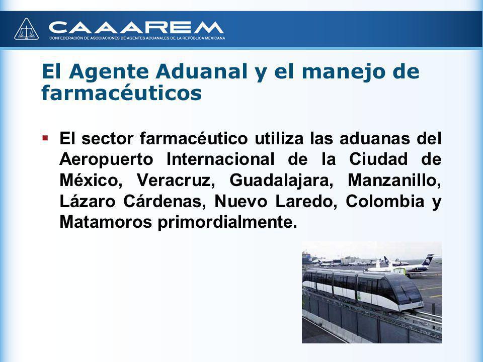 El Agente Aduanal y el manejo de farmacéuticos El sector farmacéutico utiliza las aduanas del Aeropuerto Internacional de la Ciudad de México, Veracru
