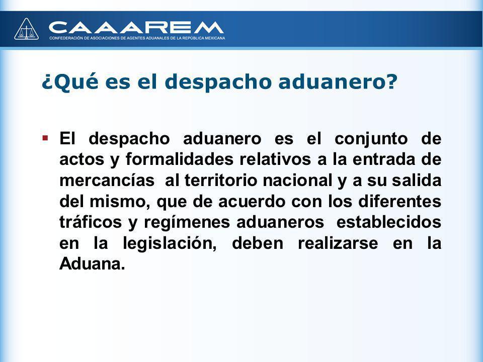 ¿Qué es el despacho aduanero? El despacho aduanero es el conjunto de actos y formalidades relativos a la entrada de mercancías al territorio nacional