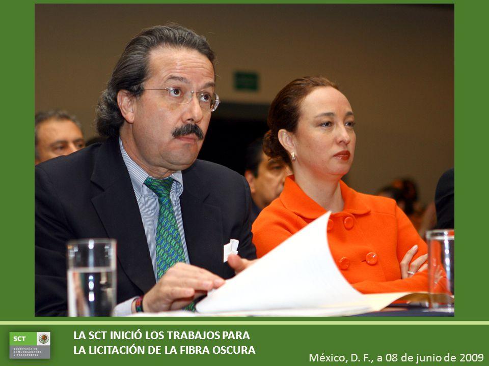 LA SCT INICIÓ LOS TRABAJOS PARA LA LICITACIÓN DE LA FIBRA OSCURA México, D.