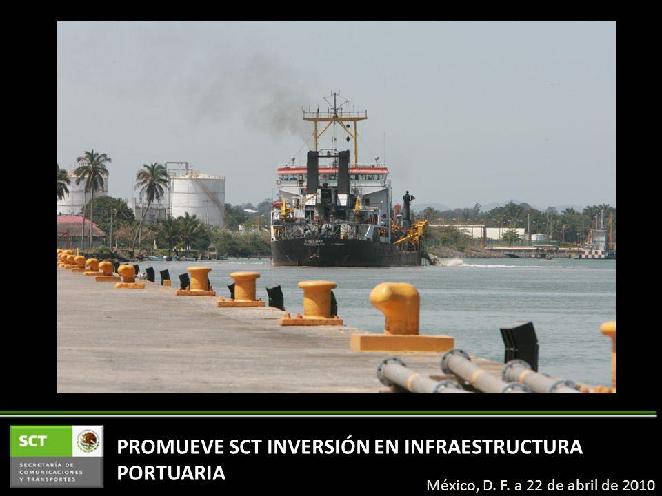 PROMUEVE SCT INVERSIÓN EN INFRAESTRUCTURA PORTUARIA México, D. F. a 22 de abril de 2010