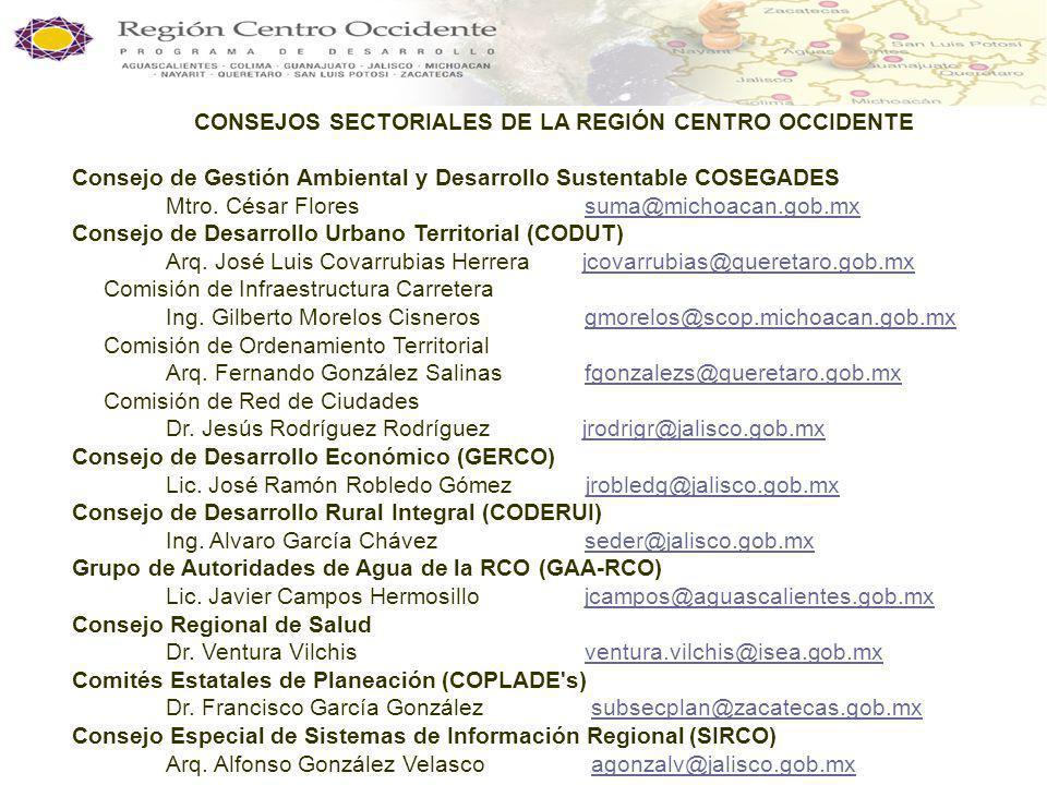 MESORREGIÓN CENTRO OCCIDENTE Grupo Económico de la RCO v Acciones realizadas por el GERCO Acciones realizadas durante 2005 - 2006.