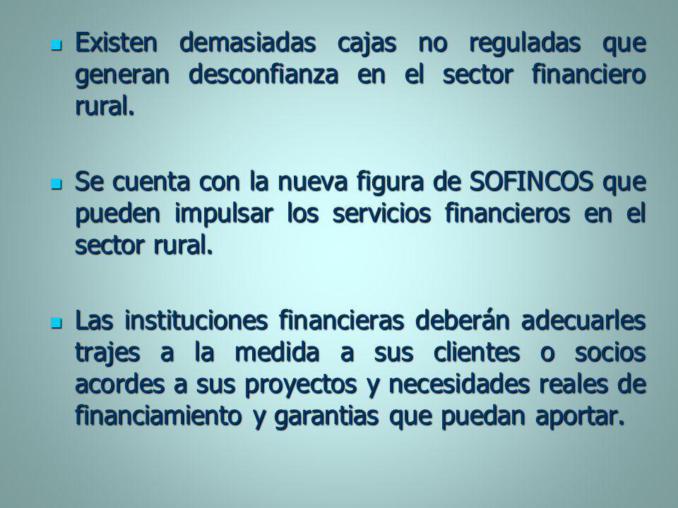 Existen demasiadas cajas no reguladas que generan desconfianza en el sector financiero rural. Existen demasiadas cajas no reguladas que generan descon