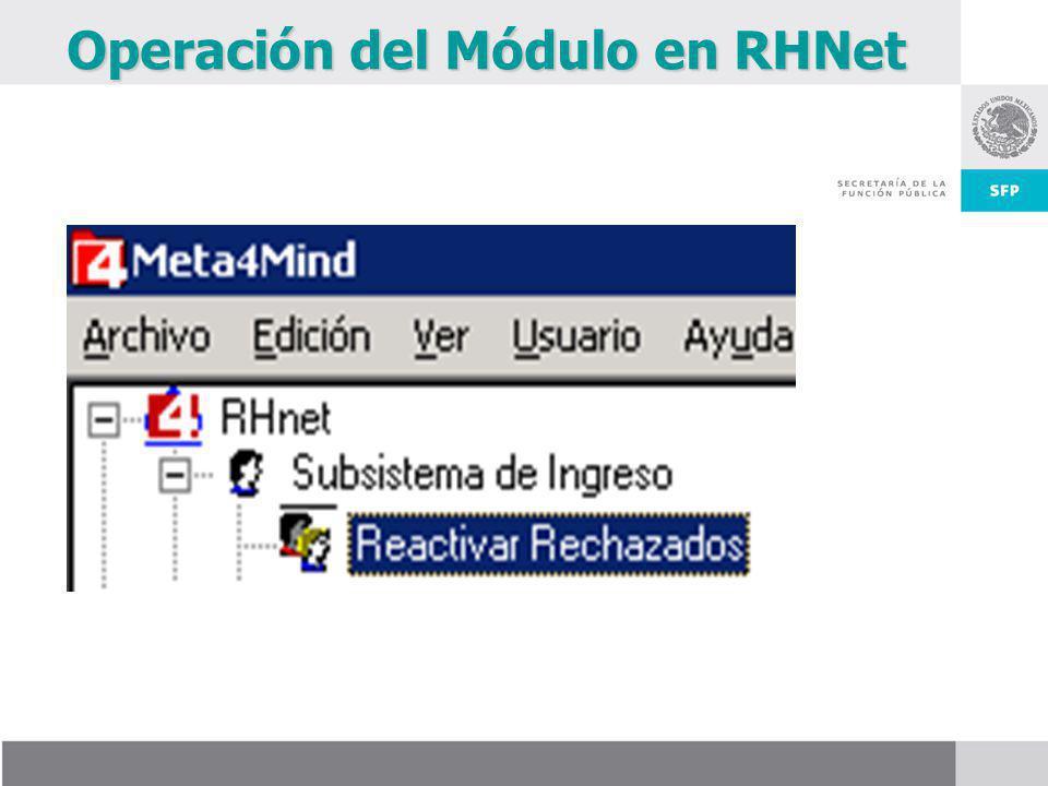 Operación del Módulo en RHNet