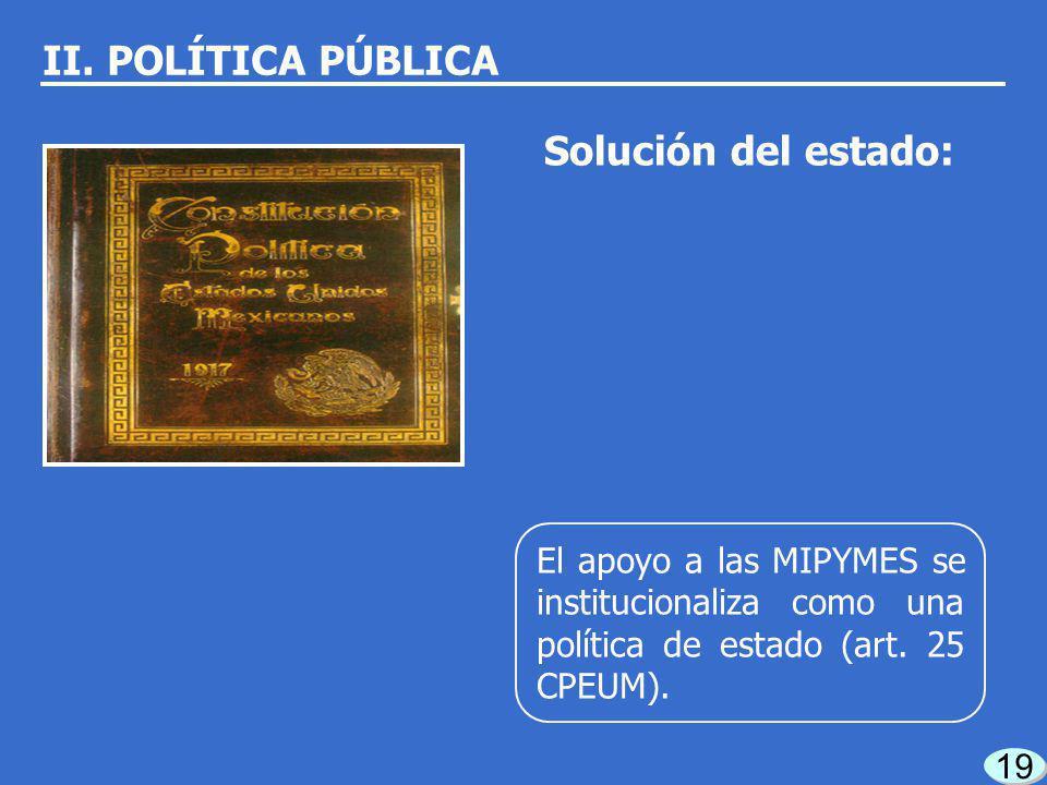 18 II. Política Pública CONTENIDO