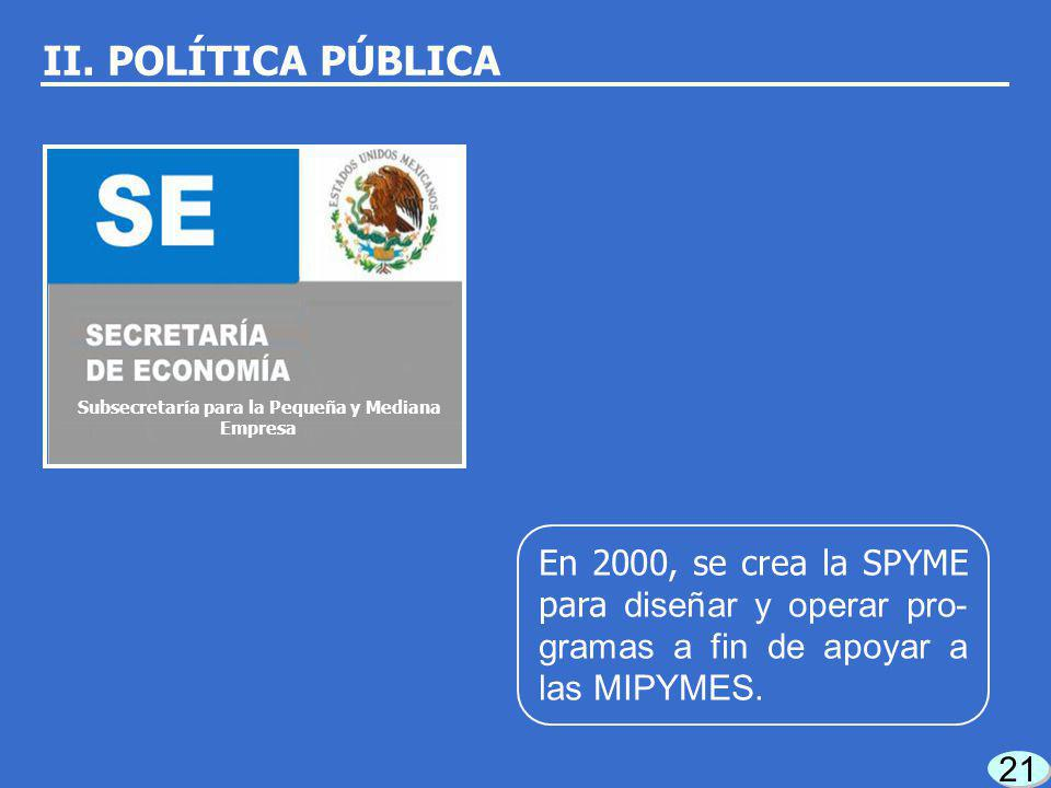 20 PND: aspecto fundamental generar empleos a fin de atender las necesidades de la población. II. POLÍTICA PÚBLICA