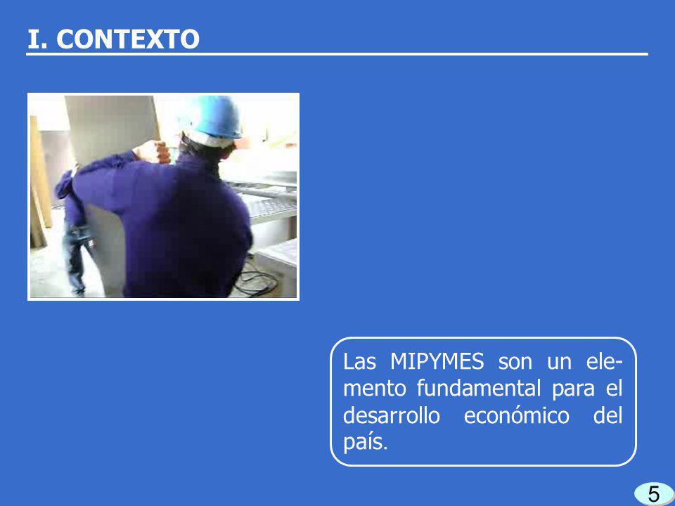 15 En la SE no se contaba con un área especializada para apoyar a las MIPYMES. I. CONTEXTO