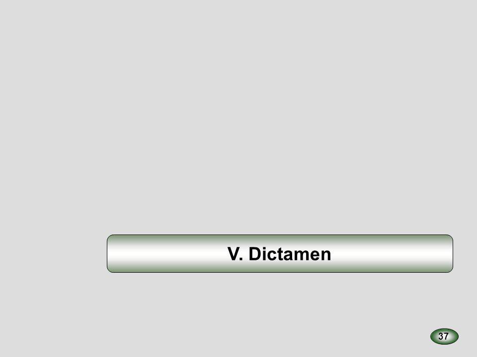 V. Dictamen 37