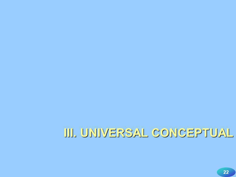 22 III. UNIVERSAL CONCEPTUAL