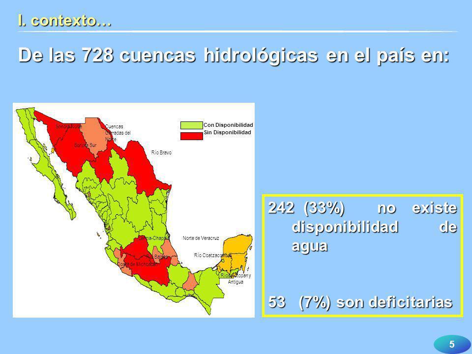 16 I. contexto… La inadecuada administración del agua ha ocasionado la falta del recurso