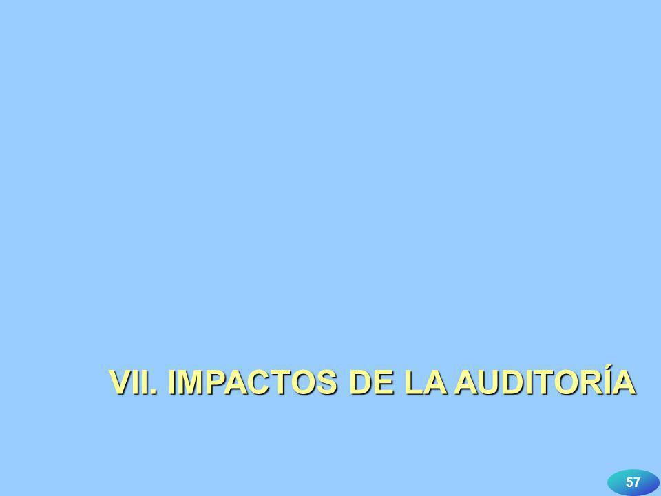 57 VII. IMPACTOS DE LA AUDITORÍA