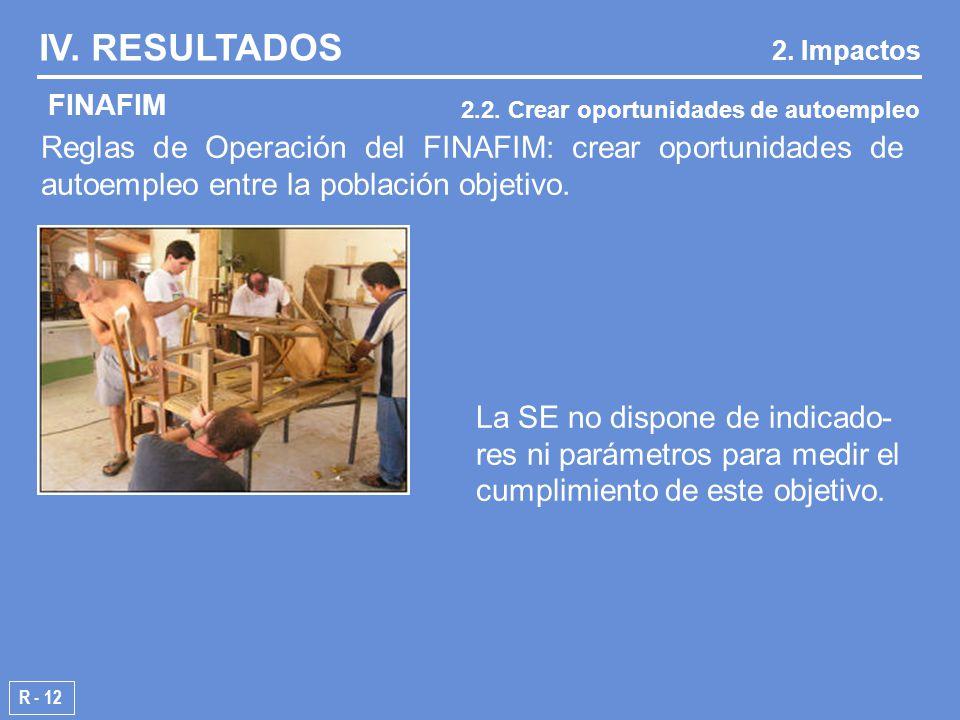Reglas de Operación del FINAFIM: crear oportunidades de autoempleo entre la población objetivo.