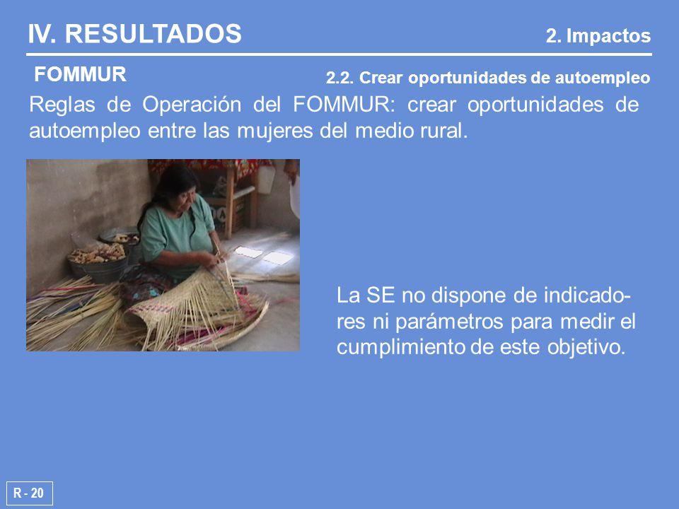 Reglas de Operación del FOMMUR: crear oportunidades de autoempleo entre las mujeres del medio rural.