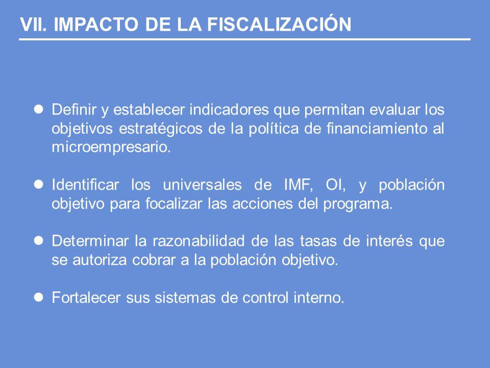 Definir y establecer indicadores que permitan evaluar los objetivos estratégicos de la política de financiamiento al microempresario.